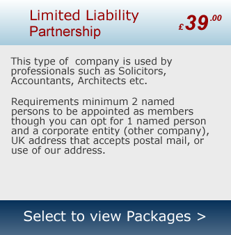 Company Formation - Limited Liability Partnership